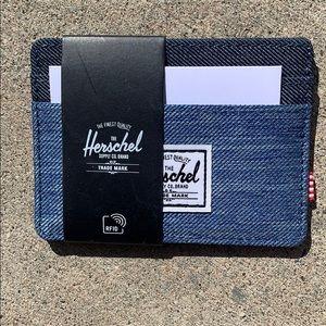 🌷Denim Herschel cardholder/wallet